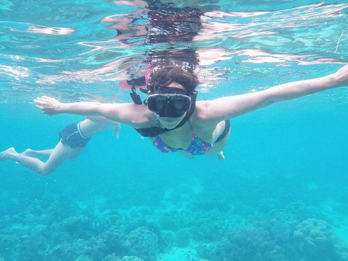 salah satu keindahan bawah laut di Pantai Pangabatang