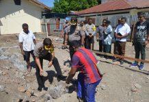 Kapolres Sikka Letakan Batu Pertama Pembangunan 7 Unit Rumah Dinas