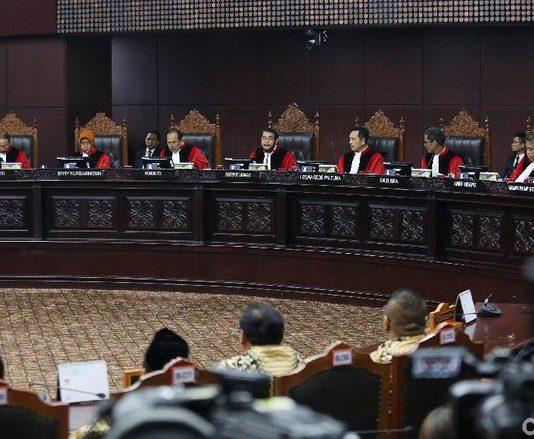 MK Tolak Permohonan Gugatan Prabowo-Sandi