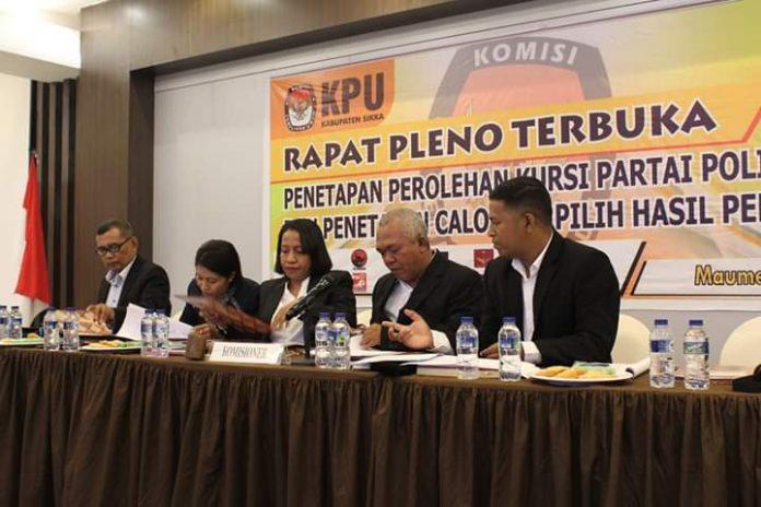 KPU Sikka Tetapkan 35 Calon Terpilih DPRD Sikka