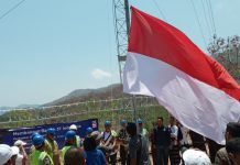 Resmikan BTS USO di Aewora, XL Axiata Kibarkan Bendera Merah Putih