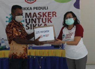 Menembus Terjalnya Waiblama, IDI Sikka Edukasi Covid dan Bagi 1500 Masker