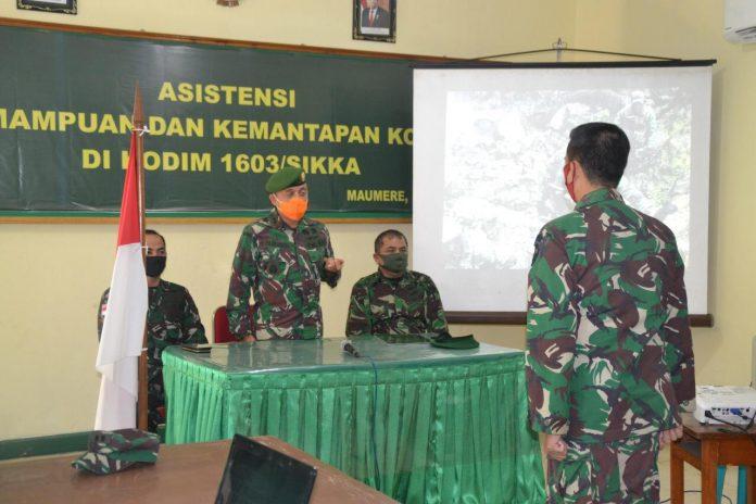 Kodim Sikka Tingkatkan Wawasan Teritorial Wilayah