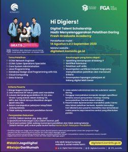 Kabar Gembira!Pelatihan Daring Berbasis Kompetensi Nasional, Gratis untuk para Pencari Kerja
