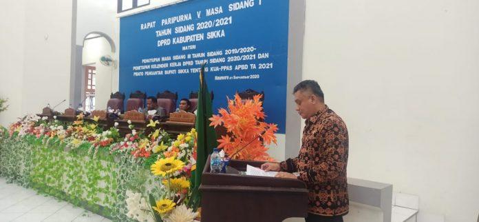 Setelah Tiga Kali Tertunda, Akhirnya Bupati Sikka Ajukan Dokumen KUAPPAS 2021