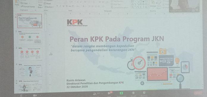 KPK Fokus Sektor Kesehatan dan Program JKN-KIS
