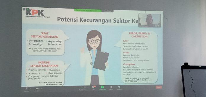 KPK Beberkan Potensi Kecurangan dan Modus Korupsi Sektor Kesehatan