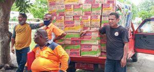 BPO Labuan Bajo Salurkan Bantuan Pengungsi Lembata melalui BPBD Sikka