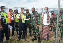 Danlanud Eltari Kupang Tinjau Aset TNI-AU di Maumere