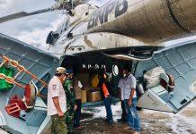 Helikopter BNPB Bawa Bantuan Logistik Penanganan Bencana