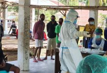 Bhera Dikepung Covid, Warga Langsung Rapid Massal